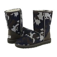 UGG Classic Short Blue Camo 5825 Outlet UK