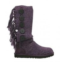 UGG Fringe Cardy 1878 Blackberry Wine Outlet UK