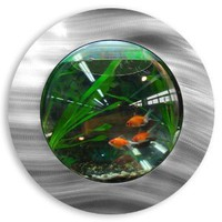 Amazon.com: Brushed Aluminum Fish Bubble - Deluxe Wall Mounted Fish Tank: Home & Kitchen