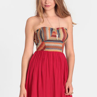 Olvera Street Strapless Dress