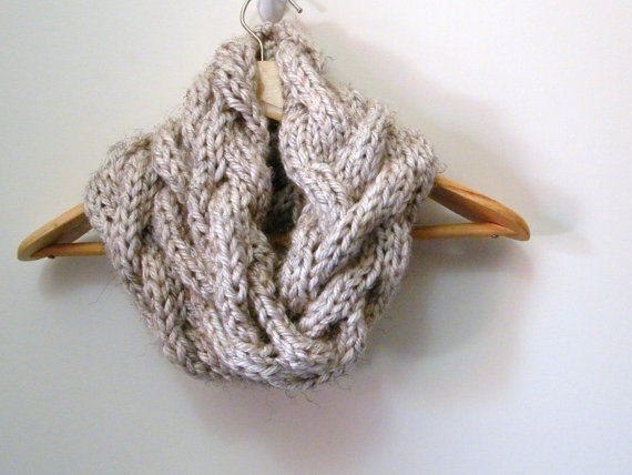 Free Knitting Pattern Infinity Cable Scarf : KNITTING PATTERN Cable Cowl Infinity from LewisKnits on Etsy