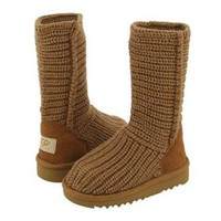 5833 UGG Classic Crochet Oatmeal Outlet UK