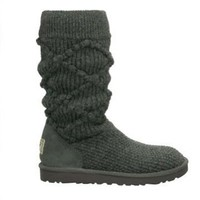 5879 Charcoal UGG Women&#x27;s Classic Argyle Knit Outlet UK
