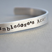 Dumbledore&#x27;s Army Harry Potter Bracelet Hand Stamped