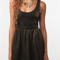 UrbanOutfitters.com > Sparkle & Fade Metallic Side-Detail Dress