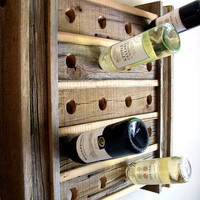 Wine Rack Riddling Rack / Rustic / Reclaimed / Barn Wood