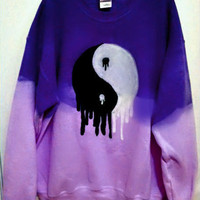 Custom Color Dripping Yin-Yang Sweatshirt