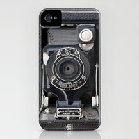 Vintage Autographic Kodak Jr. Camera iPhone Case by Typography Photography? | Society6