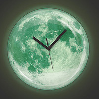 Kikkerland The Moon Wall ClockGlow in the Dark : Karmaloop.com - Global Concrete Culture