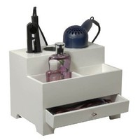 Amazon.com: Richards Homewares 987501000 Personal Hair Styling Organizer - White: Home &amp; Kitchen