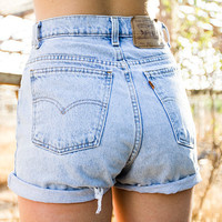 Vintage Levi's High Waisted Shorts by TheOpSpot on Etsy