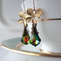 Rainbow Swarovski Crystal Orchid Do.. on Luulla