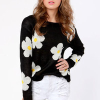 Daisy in Love Floral Print Sweater