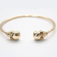 Gold Skull Cuff bangle Bracelet from New Spirit Boutique