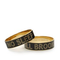 kate spade | idiom bangles no sleep till brooklyn