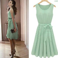 CHERRYDRESS single piece vest skirt Chiffon 8039