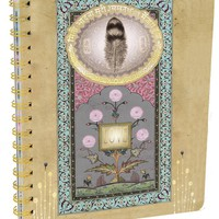 PAPAYA! Art Love Feather Spiral Notebook
