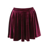 Holiday Sale Burgundy Crush Velvet Skirt by kalypsoblue on Etsy