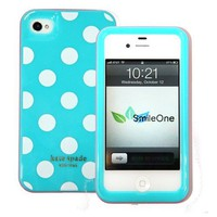 Amazon.com: (Sky Blue Dotes) Kate Spade 3 Layers Case for Iphone 4: Cell Phones & Accessories
