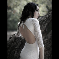 White Lace Dress party wedding dress by PolinaIvanova on Etsy