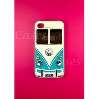 Amazon.com: Vw Minibus Teal Iphone 4 Case, Iphone 4s Case: Cell Phones &amp; Accessories