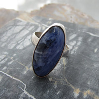 Sodalite Sterling Ring