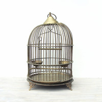 Vintage Brass Bird Cage by jacquierae on Etsy