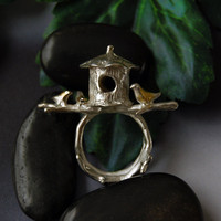 Tree House ring by 6shadowsjewelry on Etsy