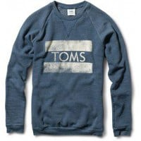 Women's Heather Dark Blue TOMS Classic Crew  | TOMS.com
