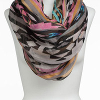 Lulu Sheer Southwest Print Infinity Scarf | Nordstrom