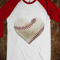heart, baseball, love - Glitter