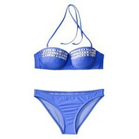 Xhilaration® Juniors 2-Piece Bikini Swimsuit with Silver Studs -Blue
