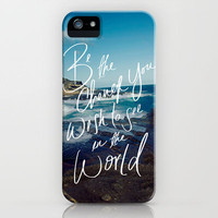 Be the Change iPhone Case by Leah Flores | Society6