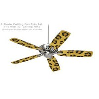 Amazon.com: Ceiling Fan Skin Kit (fits most 42inch fans) - Leopard Skin - (Fan and fan blades NOT INCLUDED) by wallthat: Everything Else