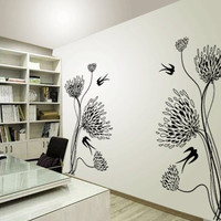 MUMS and SWALLOWS Vinyl Wall Decal by 7decals on Etsy