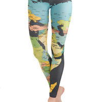 Mapped Crusader Leggings | Mod Retro Vintage Pants | ModCloth.com