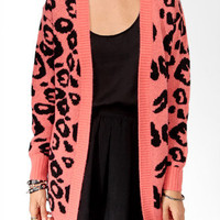 Animal Print Open Cardigan | FOREVER 21 - 2025100812