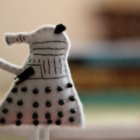 Dalek Felt Paperclip Bookmark by Willowfolk on Etsy