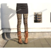 Western Fashion Mix-Matched and Elastic Leopard Pattern Embellished Leggings China Wholesale - Everbuying.com