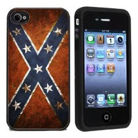 Amazon.com: Rubber Confederate Rebel Flag iPhone 4 or 4s Case / Cover Verizon or At&T: Cell Phones & Accessories