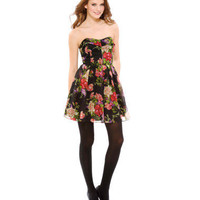 ROSIE ROMANCE CHIFFON STRAPLESS DRESS - Betsey Johnson
