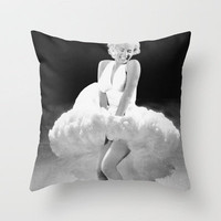 Seven Year Glitch - Marilyn Monroe Throw Pillow by Mike Oncley | Society6