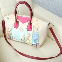 Retro Style Colored Painting Tote Bag from Pop and Shop