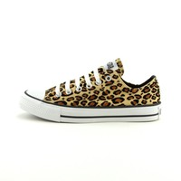 Converse All Star Lo Athletic Shoe, TanLeopard  Journeys Shoes