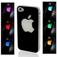 NEW Sense Flash Light Case Cover for Apple iPhone 4, 4S and 4G LED LCD Auto Color Change