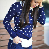 Spotted In Her Favorite Cardigan: Navy | Hope&#x27;s