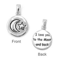 Sterling Silver I Love You to the Moon and Back Pendant: Jewelry: Amazon.com