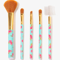 Floral Pattern Cosmetic Brushes | FOREVER 21 - 1018838307