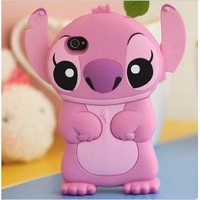 Amazon.com: 3D Stitch Style iPhone 4G/4/4S Hard Case/Cover/Protector(Pink): Cell Phones & Accessories
