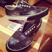 Custom Painted Galaxy Vans